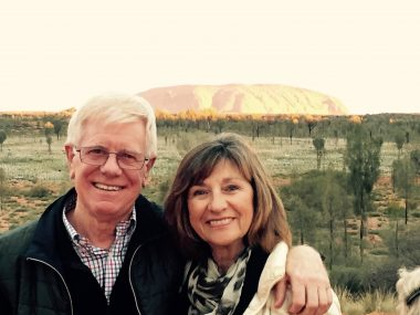 Mal with is wife Pauline.